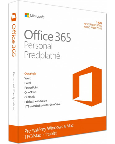Microsoft Office 365 Personal SK 1rok ML QQ2-00082