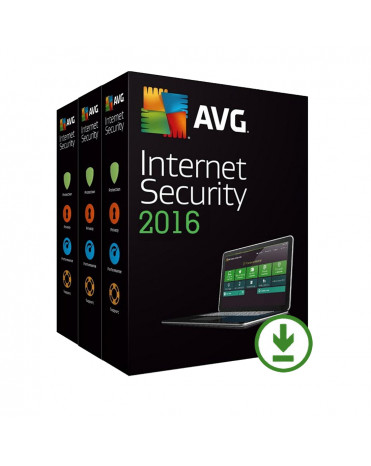 AVG Internet Security 2019 - 3 lic. 24 měs.